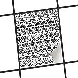 creatisto Küchenfliesen | Klebe-Sticker Aufkleber Folie Fliesen-Dekor Bad-Folie Badgestaltung | 15x20 cm Design Motiv Ethno Art - 1 Stück