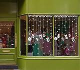 QTXINGMU Wall Sticker Weiße Weihnachten Schneemann Ornament Hängend Wandaufkleber Fenster Schlafzimmer Wand Dekoration Malerei PVC Wasserdicht Aufkleber