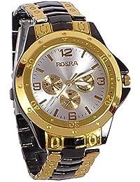 Star Villa Presents Rosra BlackGold White Dial Watch For Men | Fashion Wrist Watch | Men Watch