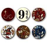VPRINT QUALITY Fridge Magnet Harry Potter Set of 6 (1.5x1.5)