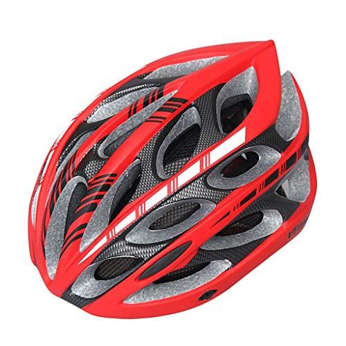 ADQX Fahrradhelm Einteiliger Fahrradhelm für Outdoor-Sportgeräte mit Sicherheitsmütze (Color : Red)