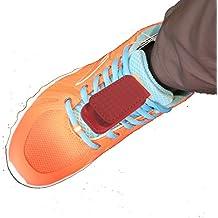 Zapato bolsa Clip Holder Clip para Fitbit One, Fitbit Flex pulsera, Withings Pulse O2, Sony smratband Cable de acero 10110A2, Misfit Shine, sensor Nike + iPod y Nike, rojo, pouch