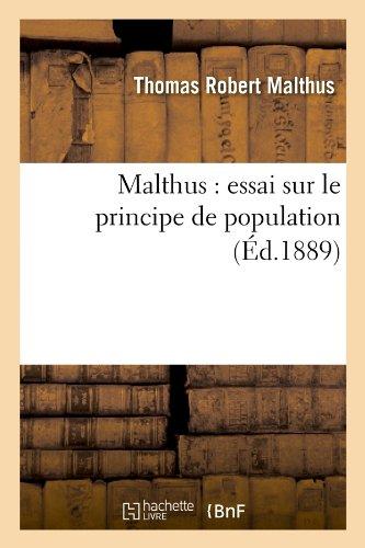 Malthus : essai sur le principe de population (d.1889)