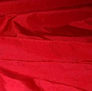 Tissu taffetas polyester au mètre/ Rouge Hermès Réf 29 - Avenue des Tissus