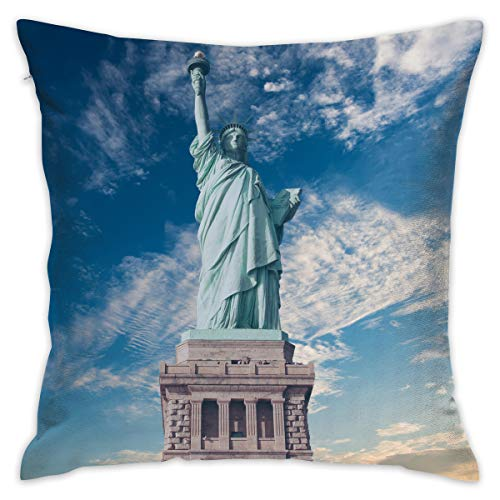 Throw Pillow Cushion Cover,Statue of Liberty, New York,Decorative Square Accent Pillow Case, 18X 18 inches - Statue Of Liberty-new York