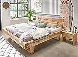 Balkenbett GORM Holzbett Eiche massiv mit geölter Oberfläche, Liegefläche:180 x 200 cm