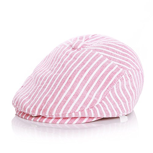 Kuyou Baby Kids Kapppe Hüte Kinder Baskenmütze Gatsby Schirmmütze (Rot) (Cap Baseball Baby)