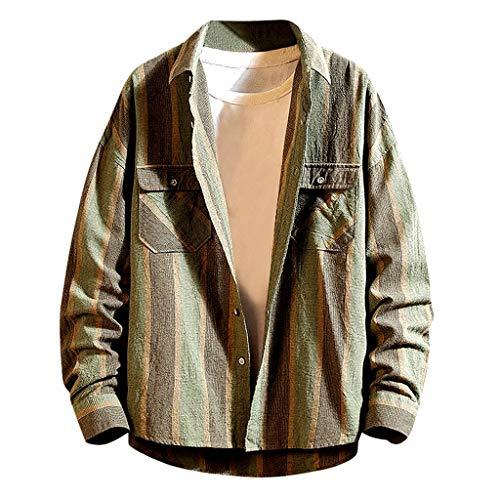 WuWangHai Workwear Herren Hemd Thermohemd Portland Thermohemd Holzfäller Jacke Kariert Mantel Pullover,Sweatshirt -