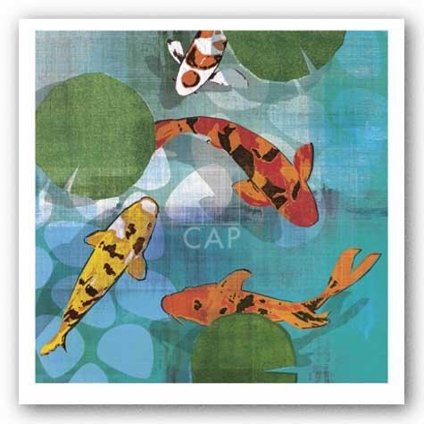 Lucky Koi II de Tandi Gal Art Print Poster