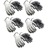 SAFEYURA Nylon Anti Cut Safety Hand Gloves - 5 Pairs