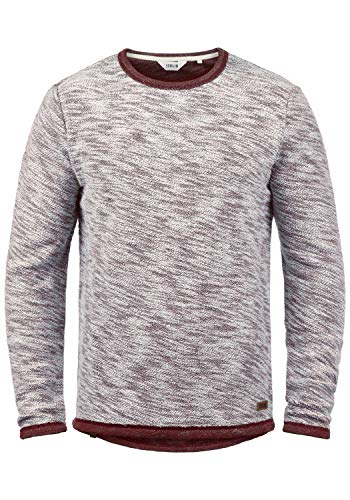 !Solid Flocks Herren Sweatshirt Pullover Flocksweat Pulli Mit Rundhalsausschnitt Aus 100{932c862fa5784663e99e4710863880555ef8a0d7766efcf61c9242c7239d43ce} Baumwolle, Größe:XL, Farbe:Wine Red (0985)