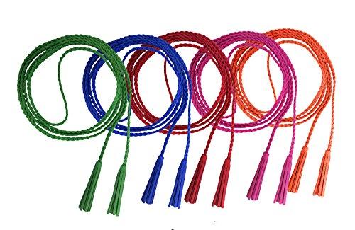en Modern Dekorative Gestrickte Lederbauchkette Geflochtene Gürtel mit Troddel (5 Farben Gruppe 2) ()