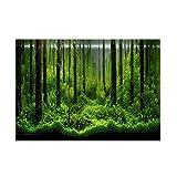 Acquario Poster PVC Adesivo Sfondo Serbatoio subacqueo Poster Sfondo Decorazione Carta Foresta Modello(122 * 46cm)