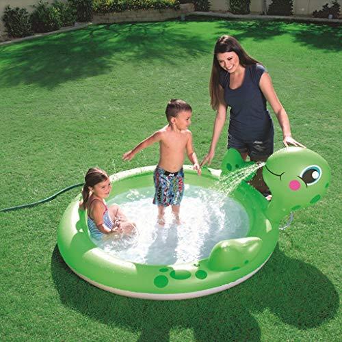LIJUEZL Runde aufblasbare Becken für Kinder-Kann Wasser für Kinder Pool Wasser Wasser Wasser Wasser Wasser aufblasbare Ride-ons Wasserspielzeug,165x150x63cm
