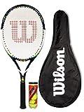 Wilson Envy 100L Blue Raquette de Tennis + Cover + 3 Tennis Balls