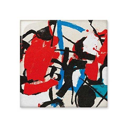 Rot Blau Schwarz Unregelmäßige Muster Western Stil Abstrakte Kunst Malerei Keramik Bisque Fliesen für Dekorieren Zimmer Küche Keramik Fliesen Wand Fliesen, sku00144664f12302-S (Western-keramik-fliese)