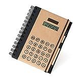 Spirale Taccuino B5, Multifunzione Organizer Personali Business Ufficio Taccuino con Calcolatrice Solare Note Adesive Slot per Schede e Penna (7 x 5 x 3/4 inches)
