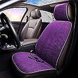 LVRXAISHEN Cuscino del Sedile per Auto riscaldante - monoposto 12V, coprisedile per Auto per Riscaldamento Invernale, Adatto per la Maggior Parte delle Auto a Cinque posti, Purple