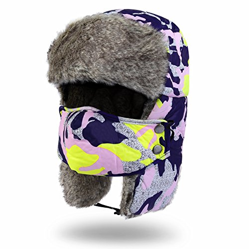 Vbiger Men's Women's Nylon Russian Style Winter Warm Ear Flap Hat