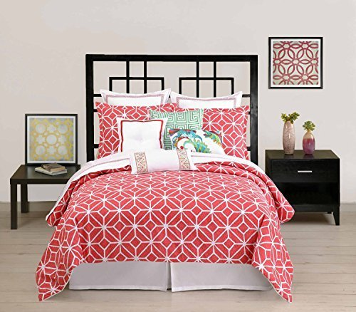 trina-turk-residential-twin-duvet-cover-trellis-collection-coral-by-trina-turk