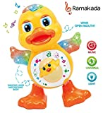 #5: Ramakada Dancing Duck Toy with Real Dance Action and Music Flashing Lights, Multi Color