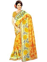 The Wardrobe Women's Georgette Saree(Wardrobe008_Multi-Coloured_Free Size)