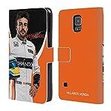 Head Case Designs Offizielle McLaren Honda Fernando Alonso 2017 Formula 1 Team Brieftasche Handyhülle aus Leder für Samsung Galaxy S5/S5 Neo
