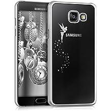 kwmobile Elegante y ligera funda Crystal Case Diseño hada para Samsung Galaxy A5 (2016) en plata transparente