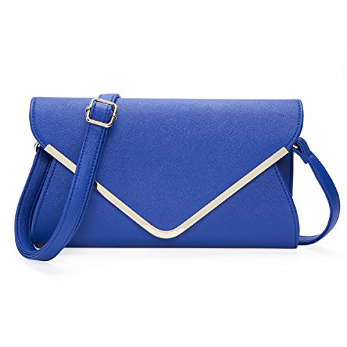 20x16x5cm Abendtasche Handtasche Envelope 05 Beddingleer Elegante Unterarmtasche Clutch Damen Schultertasche q4F8Bg