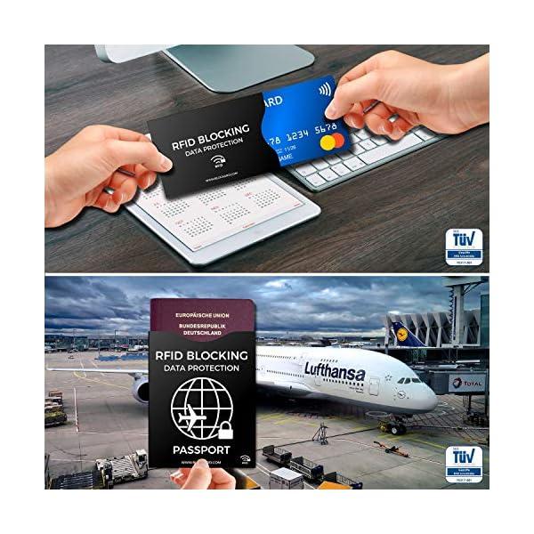 RFID Blocking NFC Custodia protettiva (12 pezzi) per carta di credito, carta bancomat, carta d'identità, passaporto… 4 spesavip