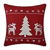 JWH Weihnachten Kissen Dekoration Überwurf Kopfkissen Decor Home Sofa Auto Büro pillowslip New Deer Tree