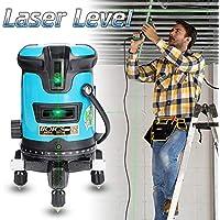 Nivel láser autonivelante, nivel de brillo de línea verde de 2/5 líneas, medidor de nivel de rayos infrarrojos Medidor de línea automático de alta precisión de luz verde Instrumento de línea súper
