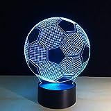 JANRON-NightLight 3D Illusion Nachtlampe,7 Farben ändern Touch Control LED Schreibtisch Tisch Nachtlicht,USB Powered für Kinder Familie Ferienhaus Dekoration Valentinstag