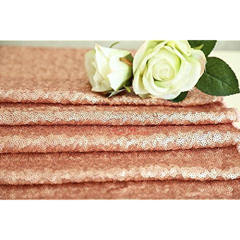 1,8m Blush paillettes tessuto sfondo Shimmer Sparkly rivestimenti in tessuto per matrimonio/partito/Natale