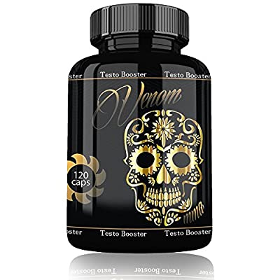 Venom Testosterone Booster by Varg Power | 120 Capsules Muscle Building Testosterone Booster Capsules Hochdosiert High Speed Increase Muscle Huge Muscle Gain Man from Varg Power
