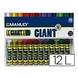 Manley MNC00001 - Pack de 12 ceras, multicolor