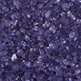Glas-Steine / Glas-Granulat (4-10 mm), 1 kg, violett-blau