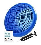PHYLLEXI Balancekissen Wackelkissen - Kerntrainer für Büro Stuhl Home ballkissen für sensorische Kinder mit Luftpumpe (Blau)