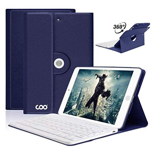 iPad Mini 1/mini 2/mini 3 Hülle Tastatur, 360 Grad rotierende Stand iPad Keyboard Case mi