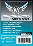100 Mayday Games 59 x 92 European Size - Clear - EU Euro Board Game Sleeves