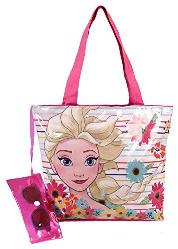 Disney frozen - set borsa in pvc 36cm + occhiali da sole