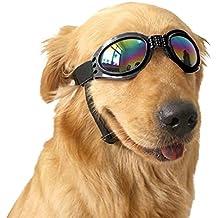 Angker Gafas de sol para perro, gafas para mascotas, gafas de sol plegables para