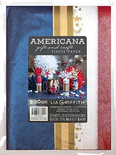 Lia Griffith americana Craft e confezione regalo di carta velina, 50,8cm da 50,8cm, 25fogli (0051116LG)