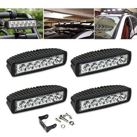 VINGO®4x 18w lumières de travail LED ATV SUV conduit des lumières de travail des lampes de travail hors route 10-30V DC technologie multi-tension