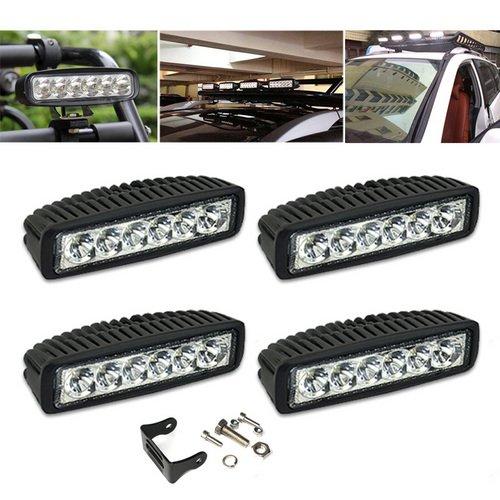 VINGO®4x 18w LED arbeitsscheinwerfer ATV SUV led arbeitsscheinwerfer bar offroad Arbeitsleuchte 10-30 V DC Multi-Voltage-Technologie
