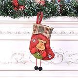 LHWY Weihnachtsstrümpfe Anhänger Weihnachtssocke Mini Socke Weihnachtsmann Süßigkeiten Geschenk Tasche Weihnachtsbaum Hängen Dekor (B)