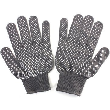 Generic Grey 1 Pair Heat Resistant Finger Glove Hair Straightener Perm Curling Hairdressing Hand Protector