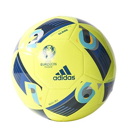 adidas Euro16 Glider - Balónes de fútbol, color amarillo / azul, tal