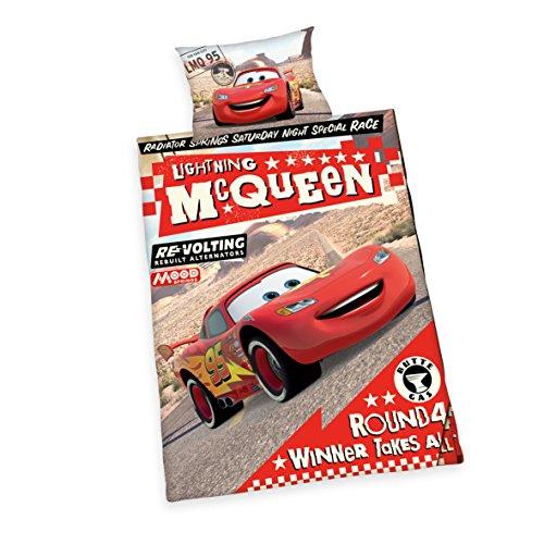 Herding 2429212063 Disney`s Cars Bettwäsche, Baumwolle, rot, 100 x 135 x cm (Kleinkind Cars-bettwäsche)