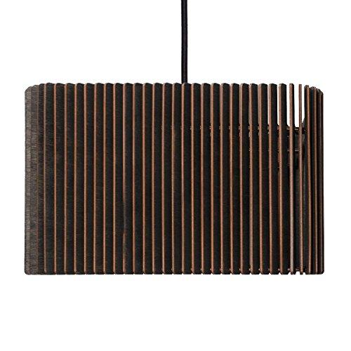 Suspension Caja – Suspension en bois – Suspension contemporaine – 2 tailles/5 couleurs de, noir, 50 x 50 cm, Höhe 20 cm